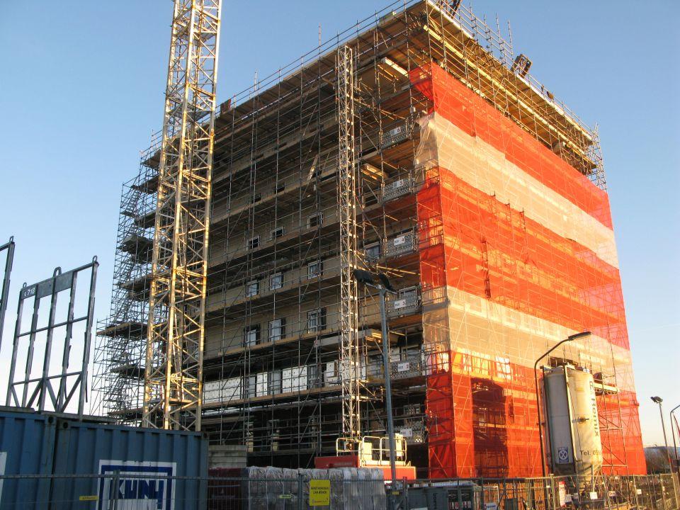 De bouw van appartementen in Lelystad. Foto: Joost Zonneveld